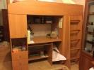 Двухэтажная кровать-чердак со столом