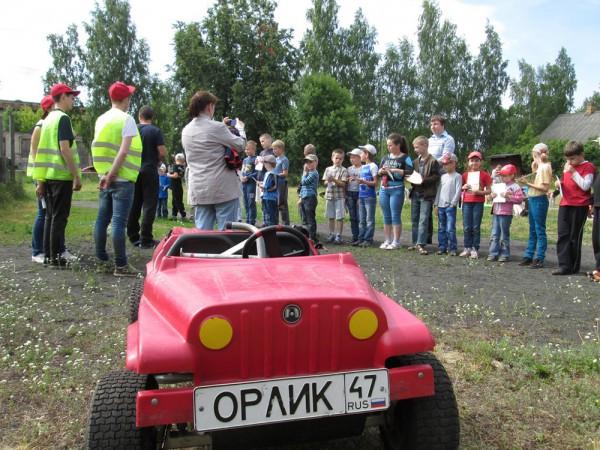 В Лужский район прибыл мобильный автогородок