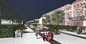 Новая пешеходная зона в Луге